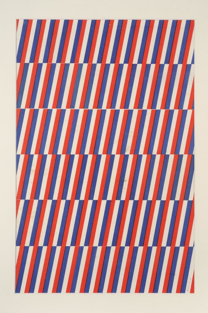 Red, White and Blue: collage on card, 1965 © Brian Rice