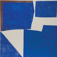 Sandra Blow: Blue and White Collage - acrylic on canvas, 2006