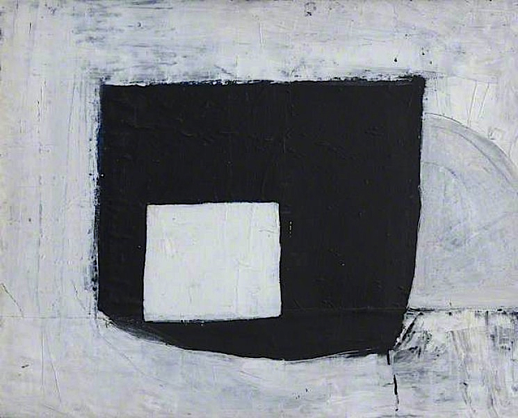 John Blackburn, Composition, c.1963, oil on on cotton on board