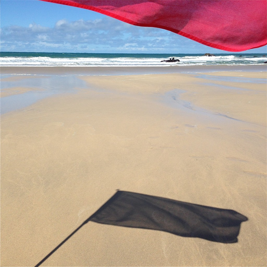 Porthmeor with flag